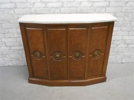 MARBLE TOPPED CREDENZA