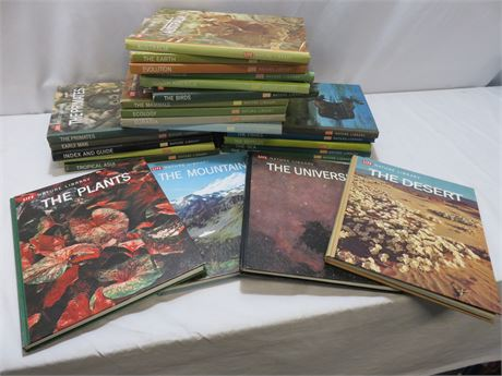 Vintage 1960s Time Life Nature Library Hardcover Book Set