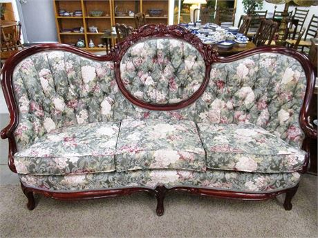 VICTORIAN SOFA BY HARRIS FURNITURE REPRODUCTIONS