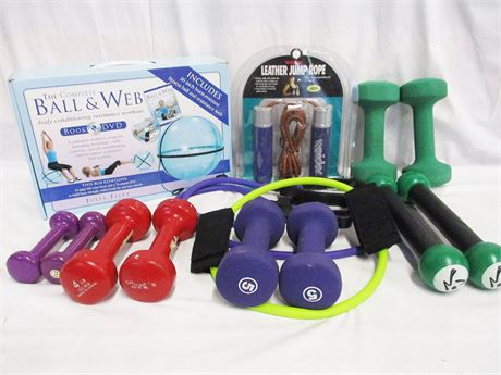 ANOTHER LOT OF WORKOUT ESSENTIALS FEATURING WEIDER