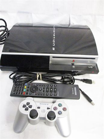 SONY PLAYSTATION 3 MODEL NTSC CONSOLE, CONTROLLER, REMOTE