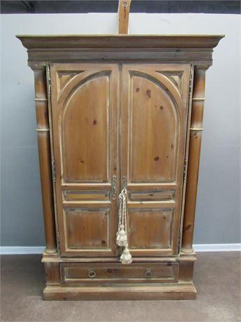 Large Romweber Vintage/Rustic Look Bedroom Armoire