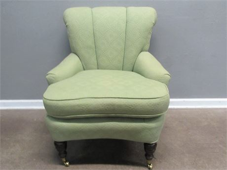 Vintage Cox Manufacturing Slipper Chair with Front Casters