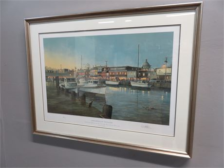 """PAUL MCGEHEE """"Annapolis At Twilight"""" Limited Edition Lithograph"""