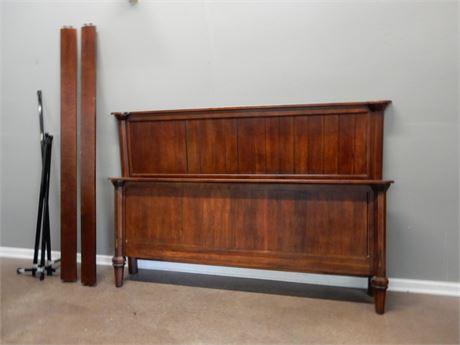 King Size Wood Headboard and Footboard