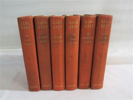 Vintage 6 Book Zane Grey Lot