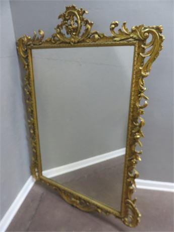 Vintage F.J. NEWCOMB CO. Ornate Wall Mirror