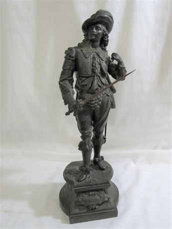 BRONZE LOOK CAST METAL FIGURINE