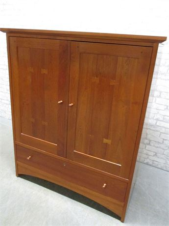 STICKLEY MISSION-STYLE CHERRY TV ARMOIRE