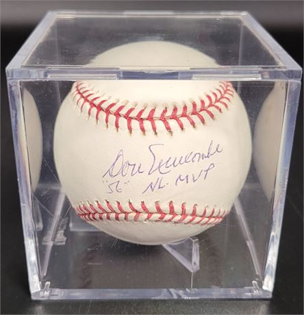 DON NEWCOMBE 1956 NL MVP SIGNED AND CERTIFIED OFFICIALLY LICENSED MLB BASEBALL