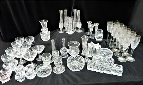 Waterford Crystal Candlesticks Bud Vases and More