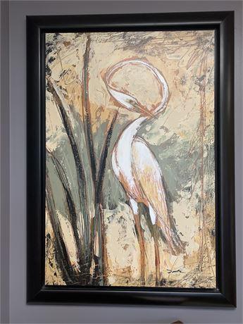 Stunning Giclée Canvas Tropical Bird Wall Art by Panitz