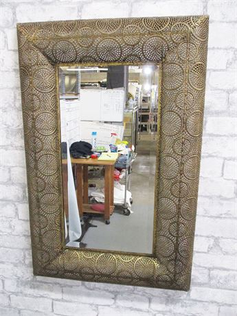 GOLD LACE MIRROR