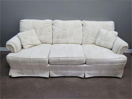 Nice Drexel Heritage Sofa with 2 Throw Pillows