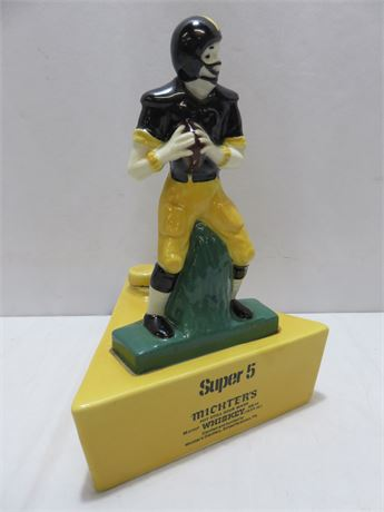 Vintage Michter's Super 5 Pittsburgh Steelers Football Decanter