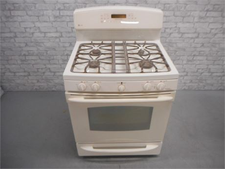 GE PROFILE XL44 DUAL-FUEL CONVECTION OVEN/STOVE