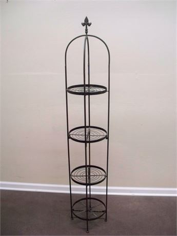 WROUGHT IRON DISPLAY/PLANT STAND