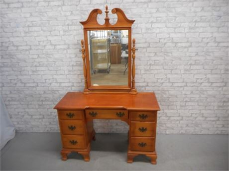 NICE SOLID WOOD VANITY WITH MIRROR