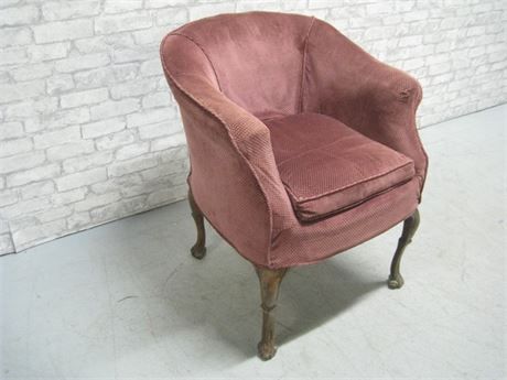 SMALL VINTAGE SLIP COVERED CHAIR