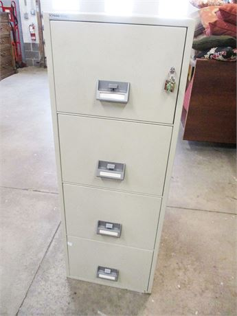 SCHWAB 1000 4-DRAWER FIREPROOF LOCKABLE FILING CABINET