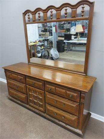 SUMTER CABINET CO. Oak Triple Dresser