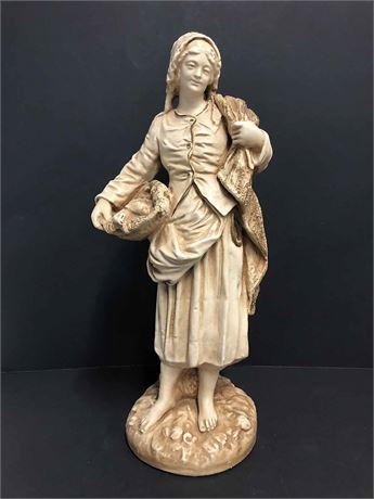 Signed Alabaster Sculpture