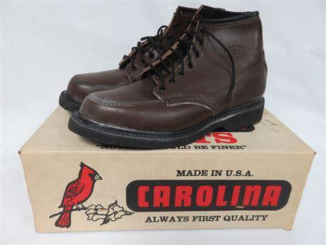 CAROLINA BOOTS Men's Leather Work Boots - SIZE 8.5E