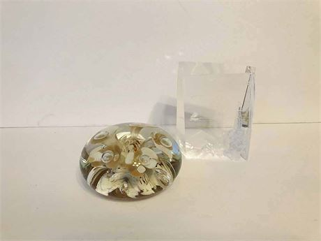 Vintage Joe St. Clair Art Glass Paperweight