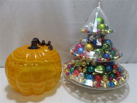 Glass Holiday Decoratives