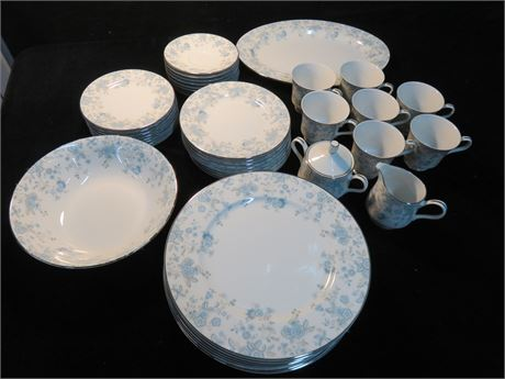 TOWNE Blue Meadows 43-Piece China Set