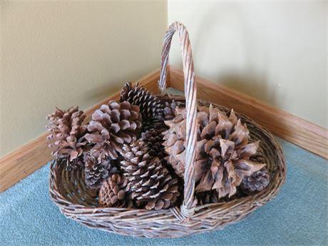 Decorative Pine Cone Basket