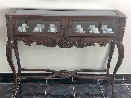 Glass Console Display Cabinet
