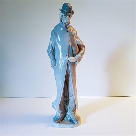 "Lladro Figurine ""Old Man with Violin"" #4622"