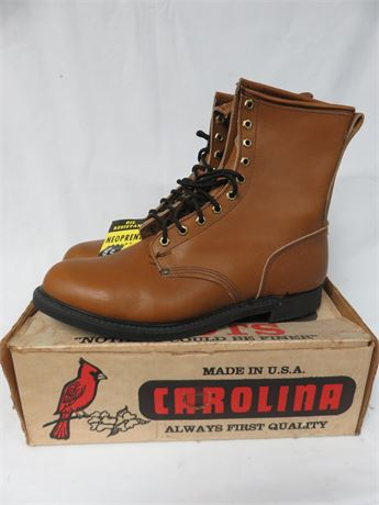 CAROLINA BOOTS Men's Leather Work Boots - SIZE 13EE