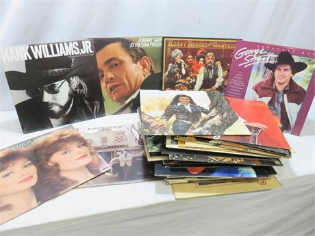 40+ Country Music Record Album Lot