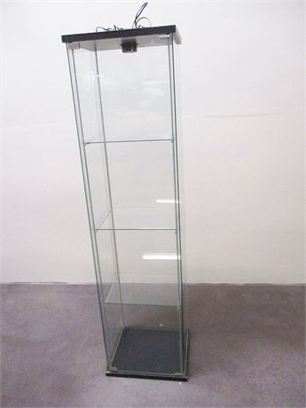 TALL NARROW GLASS DISPLAY CABINET