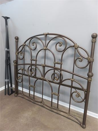 Iron Scroll King Bed
