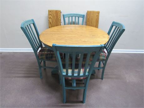 DINETTE TABLE WITH 4 CHAIRS