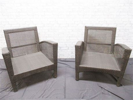 LOT OF 2 OUTDOOR CHAIRS BY WOODARD