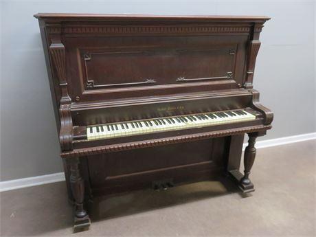 Vintage HALLET DAVIS & CO. Upright Piano