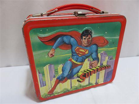 Vintage 1978 Superman Metal Lunch Box