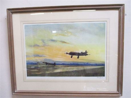 """""""TAKE OFF AT DUSK"""" SIGNED ARTIST'S PROOF BY SIR PETER SCOTT"""