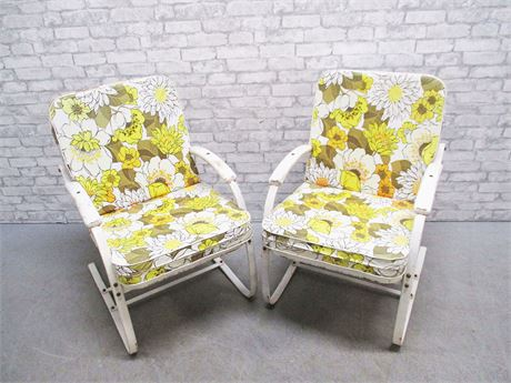 LOT OF 2 MID-CENTURY LAWN CHAIRS