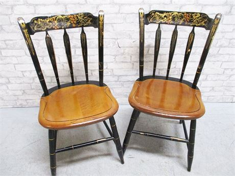 LOT OF 2 HITCHCOCK CHAIRS