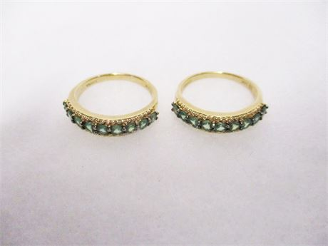 LOT OF 2 14K GOLD RINGS - SIZE 7