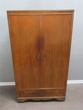 Vintage Cedar Lined Armoire on Casters