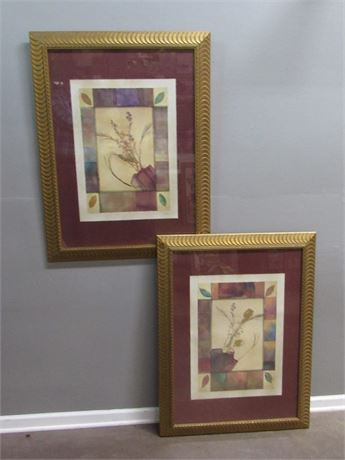 2 Framed and Matted Prints - Bouquet I & II  by Phillip Jaeger
