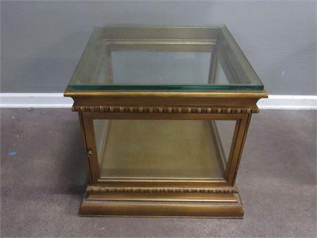 Vintage Display Style Side/End Table