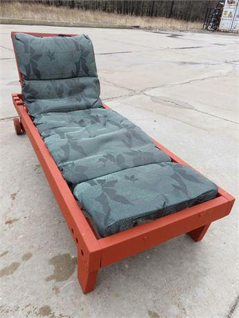 ALLEN + ROTH Outdoor Wooden Chaise Lounge Chair