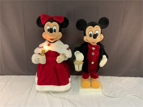 Mickey & Minnie Mouse Animated Christmas Dolls